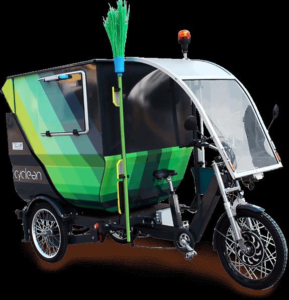 Cyclean Triciclo A Pedalata Assistita Per La Raccolta Dei Rifiuti